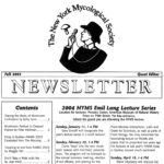 Autumn 2003 NYMS Newsletter